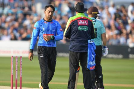 Rashid Khan in his 2018 Sussex spell