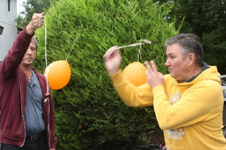 The annual conker competition was held at The Spotted Cow pub in Angmering.
