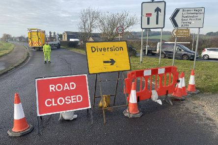 The road has been closed