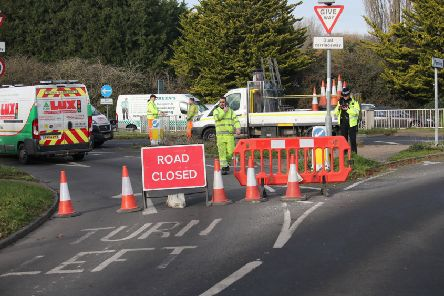 The road was closed for several hours