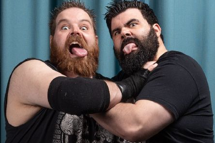 Wrestling tag team The Beards will be in action. Photo: Tom Shaw