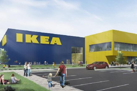 An artist's impression of the IKEA superstore