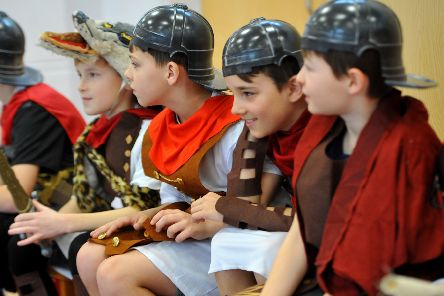 Roman Day at Glebe Primary School in Southwick. Picture: Steve Robards SR20021401