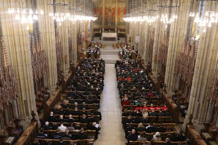 More than 400 emergency services staff came together today for the Blue Light Service at Lancing College Chapel