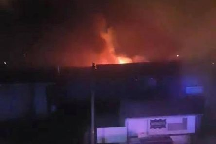 Fire at derelict building on Roman Bank in Skegnenss.