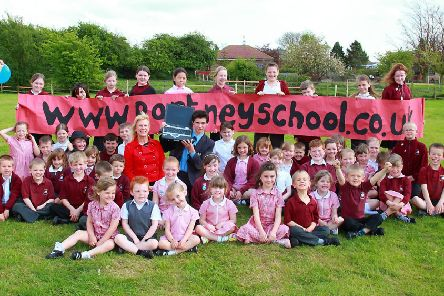 Pupils of Partney CofE Aided Primary School 10 years ago.