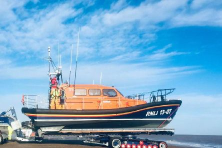 Skegness RNLI expects to have lifeboat 13-07 RNLB Reg for about four weeks..