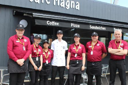 Up to 15 jobs have been created by the opening of Cafe Magna in Skegness.