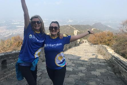 Maisie Whittam and Sue Tough of Hodgkinsons Solicitors in Skegness have trekked the Great Wall of China for charity.