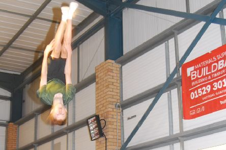 Sam Barker joining in the Big Jumps trampoline club summer sessions. EMN-190726-231030001