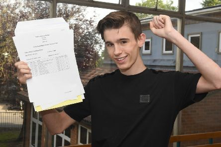 GCSE Results, Carres Grammar School. Blake Thompson-Dabis 16. EMN-190822-182712001