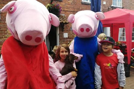 Peppa Pig characters were welcomed by youngsters at the Rainbow Stars fun day. EMN-190913-172732001