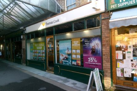 Thomas Cook travel shop in Sleaford. EMN-190810-172017001