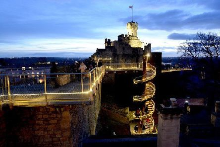 Lincoln Castle walls will be illuminated for visitors. EMN-191114-165056001