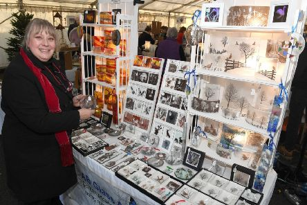 Gifted Christmas crafts market at NCCD. Adele Billinghay with her fused glass art. EMN-190912-100732001