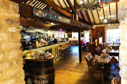 The interior of the popular Millers bar and restaurant. EMN-201001-190022001