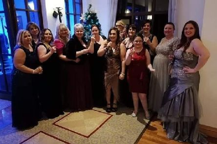 Rainbow Stars members at the Glitz and Glamour Ball. EMN-200121-140525001