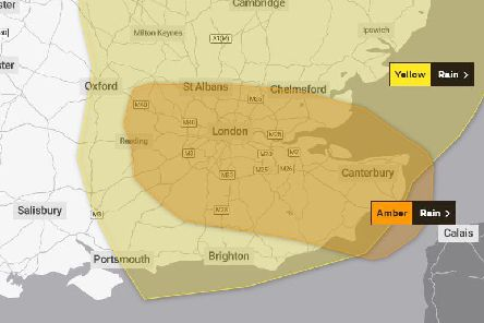The Met Office has issued an amber weather warning