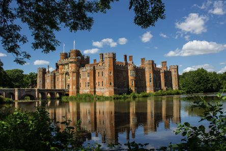 Val Berbec took this beautiful photograph of Herstmonceux Castle on a summer's day, with the castle walls reflecting perfectly in the moat. SUS-160831-115505001