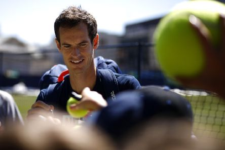Andy Murray at Devonshire Park (Getty)