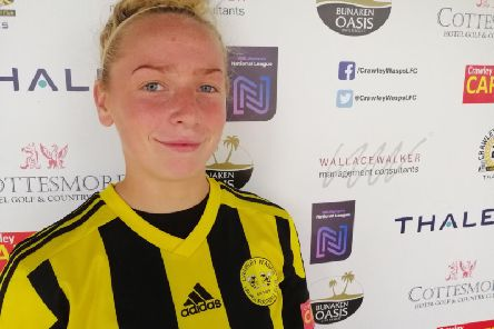 New signing Hope Nash played in Crawley Wasps friendly with Charlton.