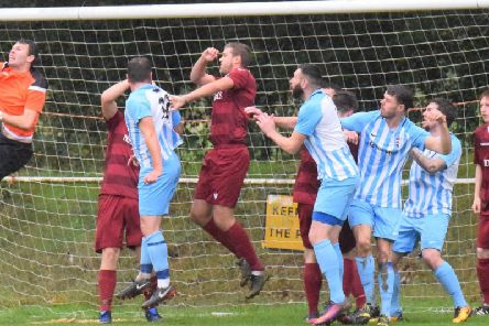 Sam Cooper, Shaun Loft, Ellis Cormack and Liam Baitup. AFC Uckfield Town v Little Common. Picture by Mike Skinner