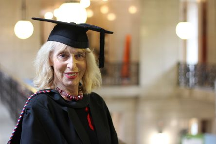 Newly graduated Diana Hills who has achieved a BA in History of Art at the age of 72