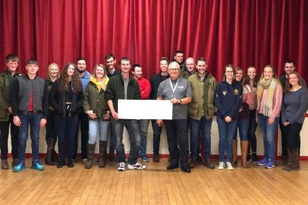 Hailsham Young Farmers presenting their donation to Kent, Surrey and Sussex Air Ambulance, photo by Anna Field