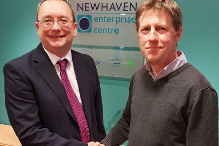 Graham Marley, chief executive of Let's Do Business Group (left) with councillor James MacCleary, cabinet member for regeneration and prosperity. Picture: Lewes District Council