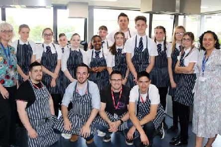 Students and the pub team.