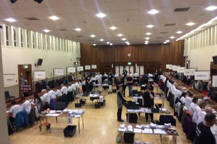 The count is underway at the Benn Hall,