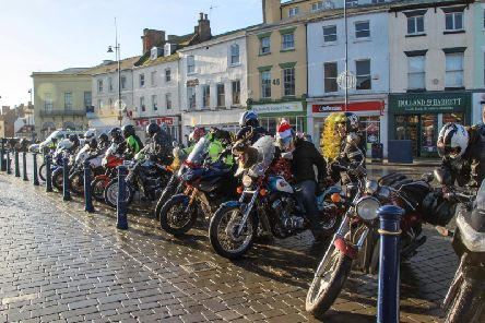 Bikers gather for last year's event