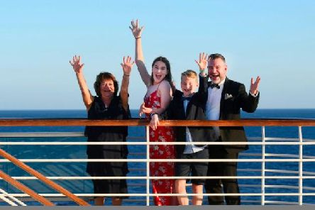 Andy Collins and family on the cruise