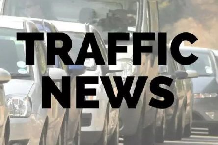 Traffic is building and stationary in the area.