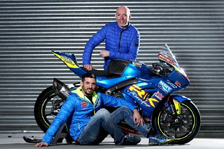 John Burrows with Derek Sheils and the new-look livery the Burrows Engineering Racing team will run in 2019, in association with new sponsor Richardson Kelly Racing.