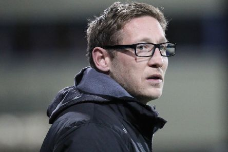 Dungannon Swifts manager Kris Lindsay. Pic by Pacemaker.