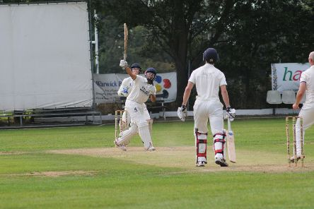 Mohammed Ahmed holes out off the bowling off Matt Hancock. Picture: Morris Troughton