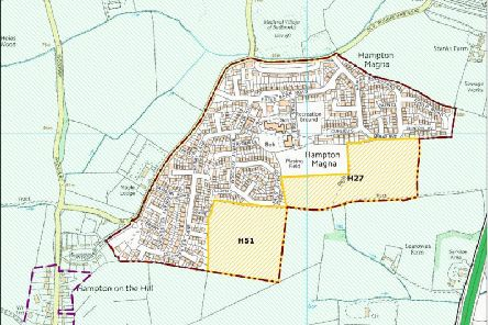 130 homes are now set to go on the H27 site marked in Warwick District's Local Plan. Photo by Warwick District Council.