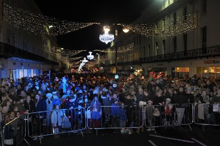 The Christmas lights switch-on in 2017.