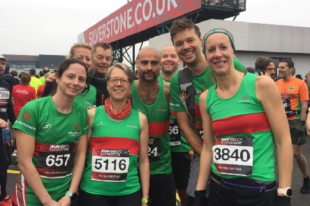 Spa Striders athletes at the Run Silverstone event on Sunday. Picture submitted