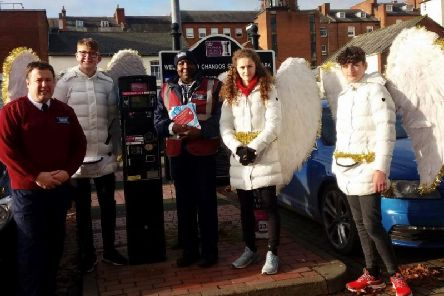 Parking angels and parking attendants at Chandos Street in Leamington.