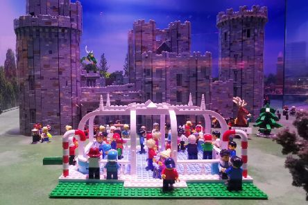 Warwick Castle's new ice rink has been recreated using Lego. Photo submitted.