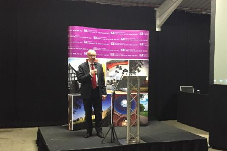 Re-elected Warwick and Leamington Labour MP Matt Western gives a speech after his victory in the General Election today.