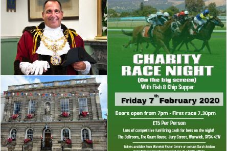 Residents are being invited to attend the Mayor of Warwick's horse race night. Photos supplied by Warwick Town Council.