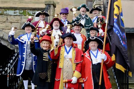 The Warwick Town Crier is an Officer of Warwick Court Leet. Photo by Gill Fletcher