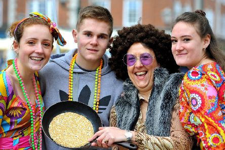 Pancake Races in Horsham. The Olive Tree Cancer Support. Picure: Steve Robards, SR1809658