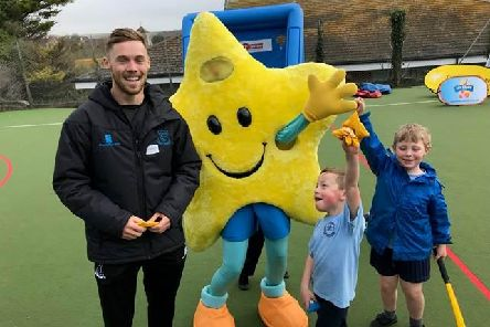 Phil Salt helps launch the 2019 All Stars programme / Picture: Sussex Cricket