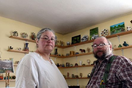 Olive and Ken Monk at their home in Linden Court. Picture by Kate Shemilt
