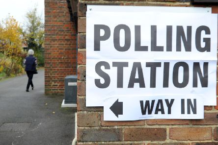 Mid Sussex polling station. The area was one of ten areas to take part in a voter ID pilot during May's council elections