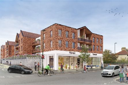An artist's impression of what the Waitrose site could look like. Picture: POD Architects SUS-190121-102412001